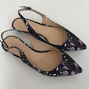 Ivanka Trump Tamine Slingback Flats Floral Shoes